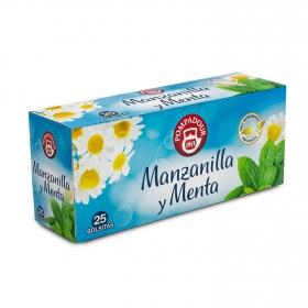 Manzanilla con menta en bolsitas Pompadour 25 ud.