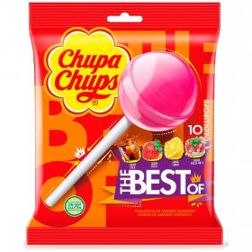 Caramelos con palo de sabores Chupa Chups 10 ud.