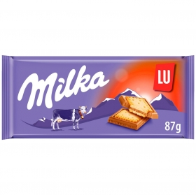 Chocolate con galleta Lu Milka 87 g.