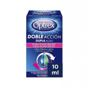 Colirio hidrata y lubrica para ojos secos Optrex 10 ml.