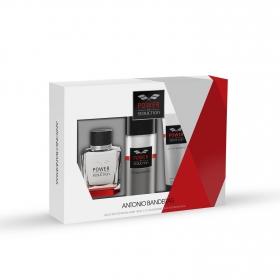 Estuche de colonia Antonio Banderas Power of Seduction Vapo 100 ml + Aftershave 75 ml.+ Deo 1 ud.