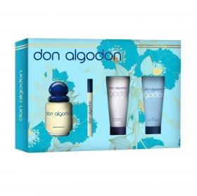 Estuche colonia Don Algodón mujer Vapo 100 ml. + Vial 10 ml. + gel 75 ml. + Loción corporal 75 ml. 1 ud.