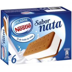 Sandwich de nata Nestlé 6 ud.