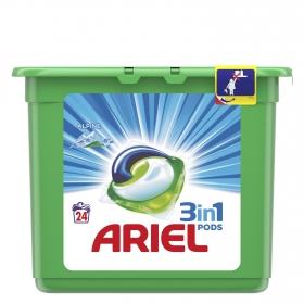 Detergente en cápsulas 3 en 1 Alpine Ariel 24 ud.