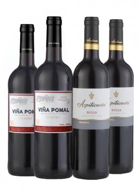 Caja 4 Botellas (2 + 2) Viña Pomal + Azpilicueta Tinto