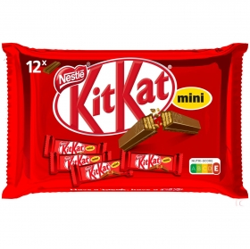 Barrita de galleta crujiente cubierta de chocolate mini Nestlé Kit Kat 200 g.