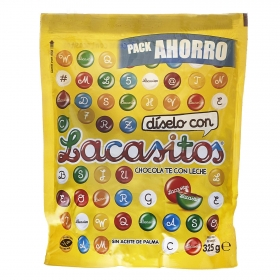 Grageas de chocolate Lacasitos Lacasa 325 g.