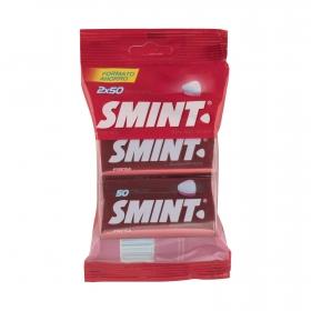 Caramelos sabor fresa Smint 2 paquetes de 50 ud.