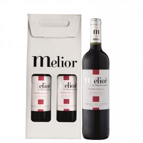 Vino D.O. Ribera del Duero Melior tinto roble pack de 2 botellas de 75 cl.
