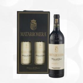 LOTE 91: 2 botellas D.O Ribera del Duero  Matarromera tinto crianza 75 cl.