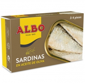 Sardinas en aceite de oliva Albo 120 g.