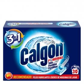 Antical para lavadoras en pastillas Calgon 30 ud.
