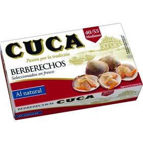 Berberechos al natural Cuca 63 g.