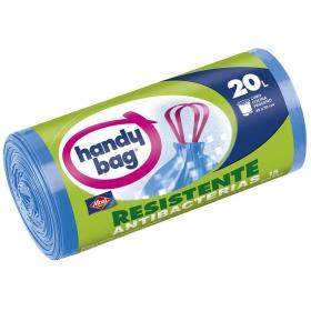 15 Bolsas de basura Handy Bag Resistente Antibacterias 20 Litros - Azul