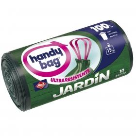10 Bolsas de basura Handy Bag Especial Jardín 100 Litros - Verde