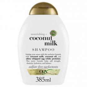 Champú nutritivo con leche de coco OGX 385 ml.