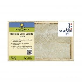 Lomos de bacalao skrei salado Calidad y Origen Carrefour 300 g