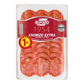 Chorizo Artesano lonchas El Pozo All Natural 80 g.