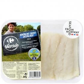 Bacalao desalado filetes Skrei, Carrefour Calidad y Origen 300 g