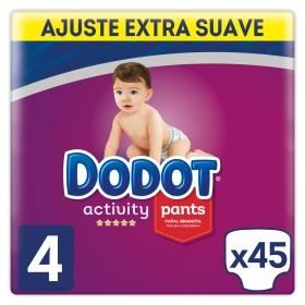 Pañales braguita Pants Dodot Activity T4 (9kg-15kg) 45 ud.