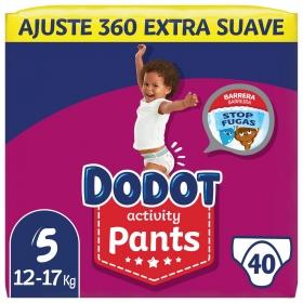 Pañales braguita Pants Dodot Activity T5 (12kg-17kg) 40 ud.