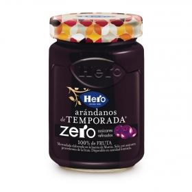 Mermelada de arándano zero azúcares refinados Hero 285 g.