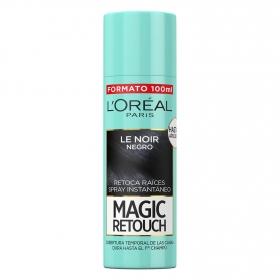 Tinte retoca raíces spray instantáneo negro L'Oréal Magic Retouch 100 ml.