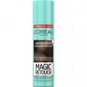 Tinte retoca raíces spray instantáneo castaño L'Oréal Magic Retouch 100 ml.