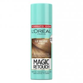 Tinte retoca raíces spray instantáneo rubio L'Oréal Magic Retouch 100 ml.