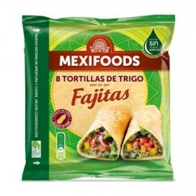 Tortillas de trigo para fajitas Mexifoods 8 ud.