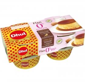 Flan Huevo 0% Dhul pack de 4 unidades de 110 g.