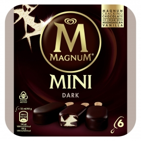 Mini bombón helado Dark Magnum sin gluten 6 ud.
