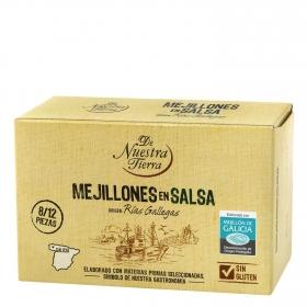 Mejillones en salsa De Nuestra Tierra sin gluten 65 g.