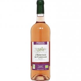 Vino rosado Grenache et Cinsault ecológico L'Hêritage de Carillan 75 cl.