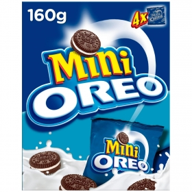 Galletas de chocolate rellenas de crema Mini Oreo pack de 4 unidades de 40 g.