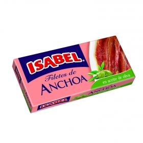 Filetes de anchoas en aceite de oliva Isabel 50 g.