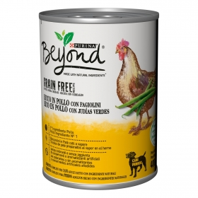 Comida húmeda de pollo para perro Purina Beyond Grain 400 g.