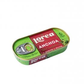Filetes de anchoas del Cantábrico en aceite de oliva Lorea 50 g.