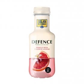 Agua Solán de Cabras Defence con zumo de pomelo rosa y flor de azahar 33 cl.