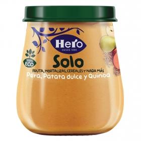 Tarrito de pera, patata dulce y quinoa ecológico Hero Solo 120 g.