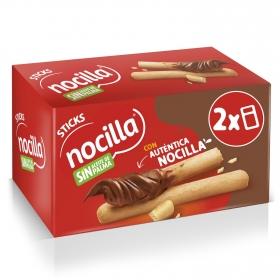 Palitos de pan con crema de cacao con avellanas Sticks Nocilla pack de 2 unidadesd e 30 g.