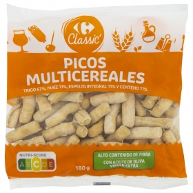 Picos multicereales Carrefour 180 g.