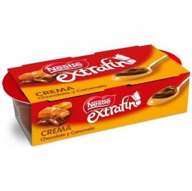 Crema de chocolate y caramelo extrafino Nestlé pack de 2 unidades de 70 g.
