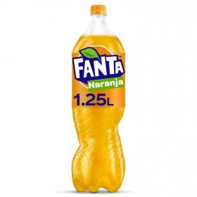 Refresco de naranja Fanta con gas botella 1,25 l.
