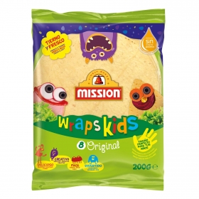 Tortillas de trigo original kids Mission 8 ud.