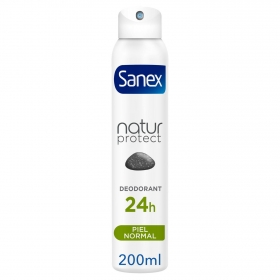 Desodorante en spray Natur Protect Piel normal Sanex 200 ml.