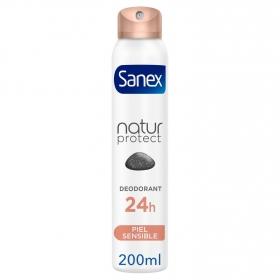 Desodorante en spray Natur Protect Piel sensible Sanex 200 ml.