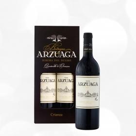 LOTE 92: 2 botellas D.O. Ribera del Duero Arzuaga tinto crianza 75 cl.