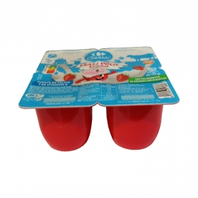 Petit maxi de fresa Carrefour Kids pack de 4 unidades de 100 g.