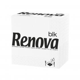 Set de 75 Servilletas  2 capas de Celulosa RENOVA BLK 75pz - Blancas